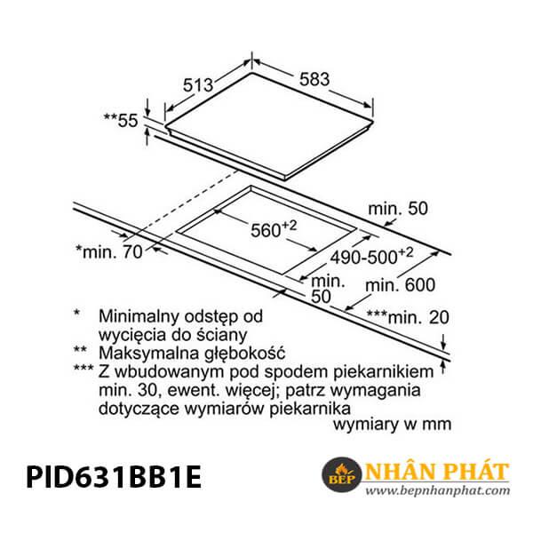 Bếp từ Bosch HMH.PID631BB1E Serie 4 5