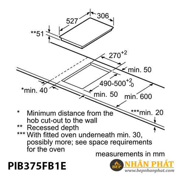 Bếp từ domino Bosch HMH.PIB375FB1E Serie 6 5