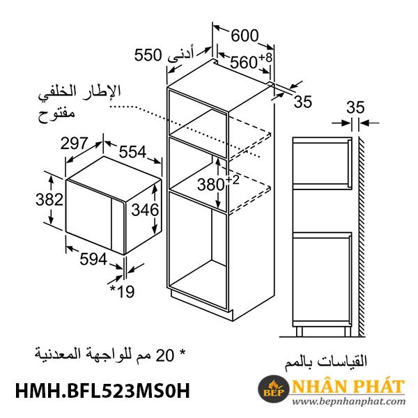 Lò vi sóng Bosch 20 lít HMH.BFL523MS0H Serie 4 5
