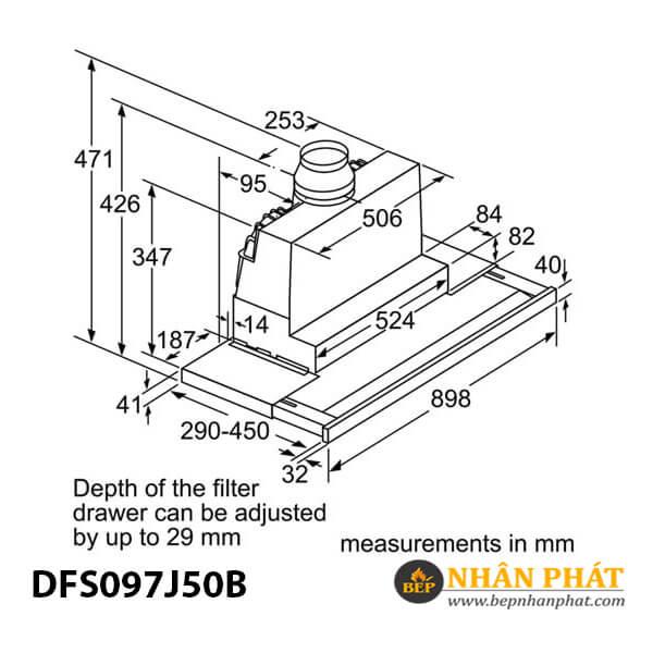 Máy hút mùi âm tủ Bosch HMH.DFS097J50B Serie 8 - 90cm 5