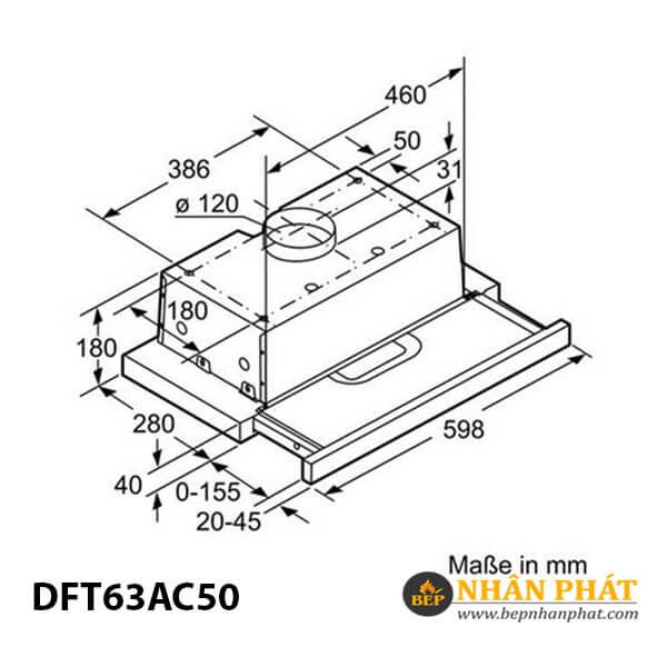 Máy hút mùi âm tủ Bosch DFT63AC50 - 60cm 5