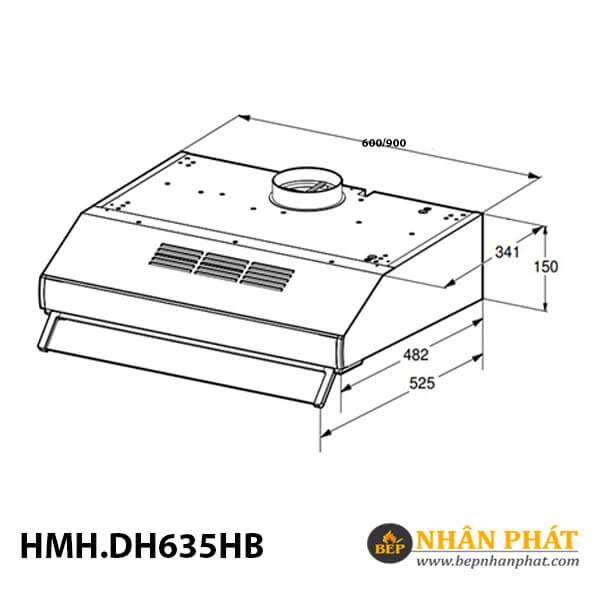 Máy hút mùi cổ điển Bosch HMH.DHU635HB Serie 4 - 60cm 5