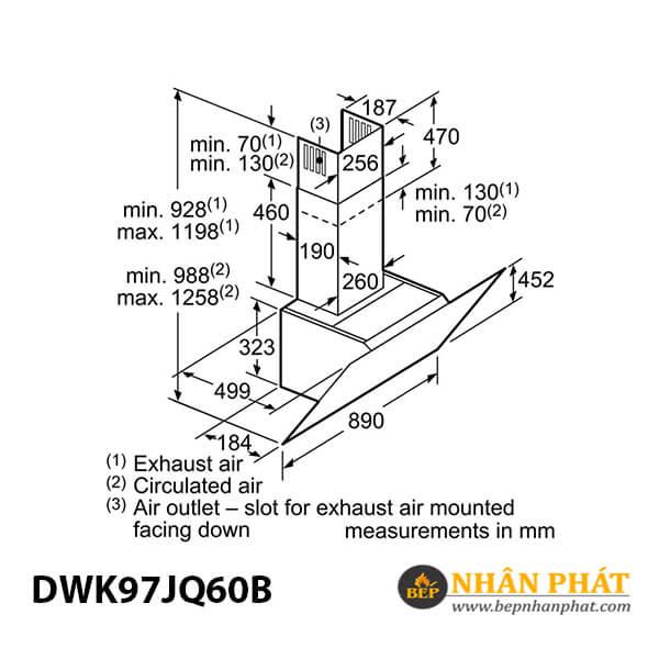 Máy hút mùi gắn tường Bosch HMH.DWK97JQ60B Serie 6 - 90cm 5
