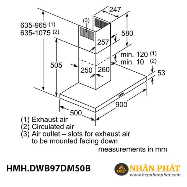 Máy hút mùi gắn tường Bosch HMH.DWB97DM50B Serie 4 - 90cm 5