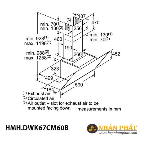 Máy hút mùi gắn tường Bosch HMH.DWK67CM60B Serie 4 - 60cm 5