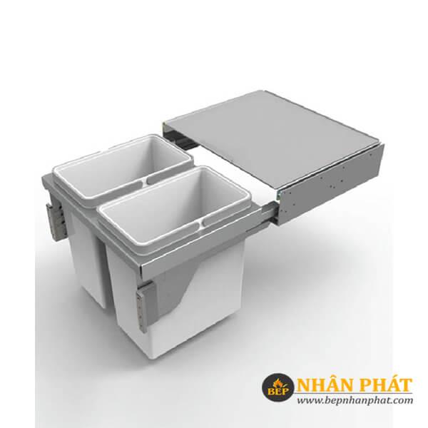 Thùng rác 2 ngăn âm tủ inox Higold 306083 4