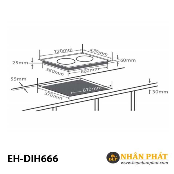 Bếp từ CHEF'S EH-DIH666 5