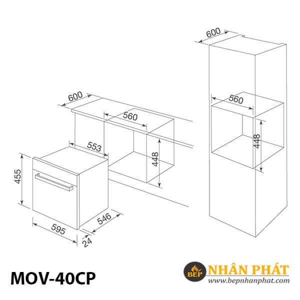 Lò nướng Malloca MOV-40CP 5