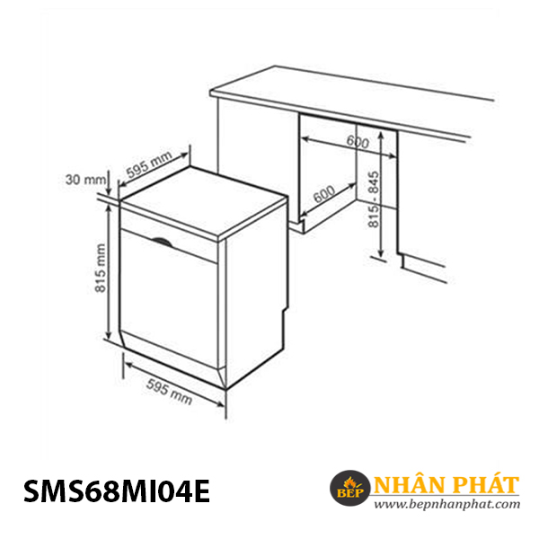 Máy rửa chén Bosch SMS68MI04E 5