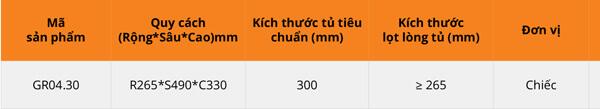 Thùng gạo nhựa abs cao cấp 1 khoang 10kg cánh mở/kéo Garis GR04.30 6