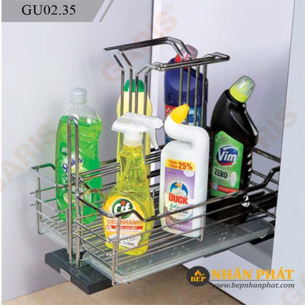 Giá để chất tẩy rửa cánh mở inox tấm Garis GU01.30 3