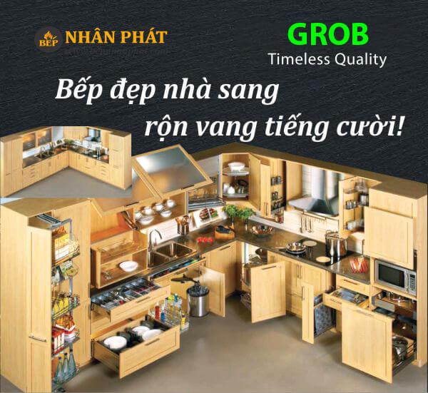 Giá xoong nồi inox hộp mờ Grob GH-60 6
