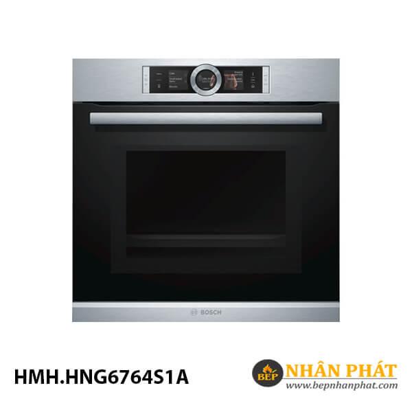 Lò nướng kết hợp hấp/vi sóng âm tủ Bosch 67 lít HMH.HNG6764S1A Serie 8 4