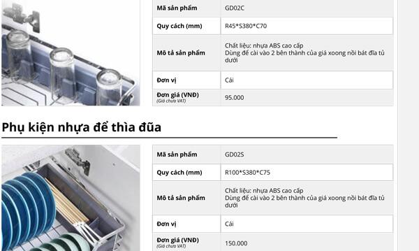 Phụ kiện nhựa để cốc-thìa dĩa nhựa ABS cao cấp Garis GD02C/GD02S 4