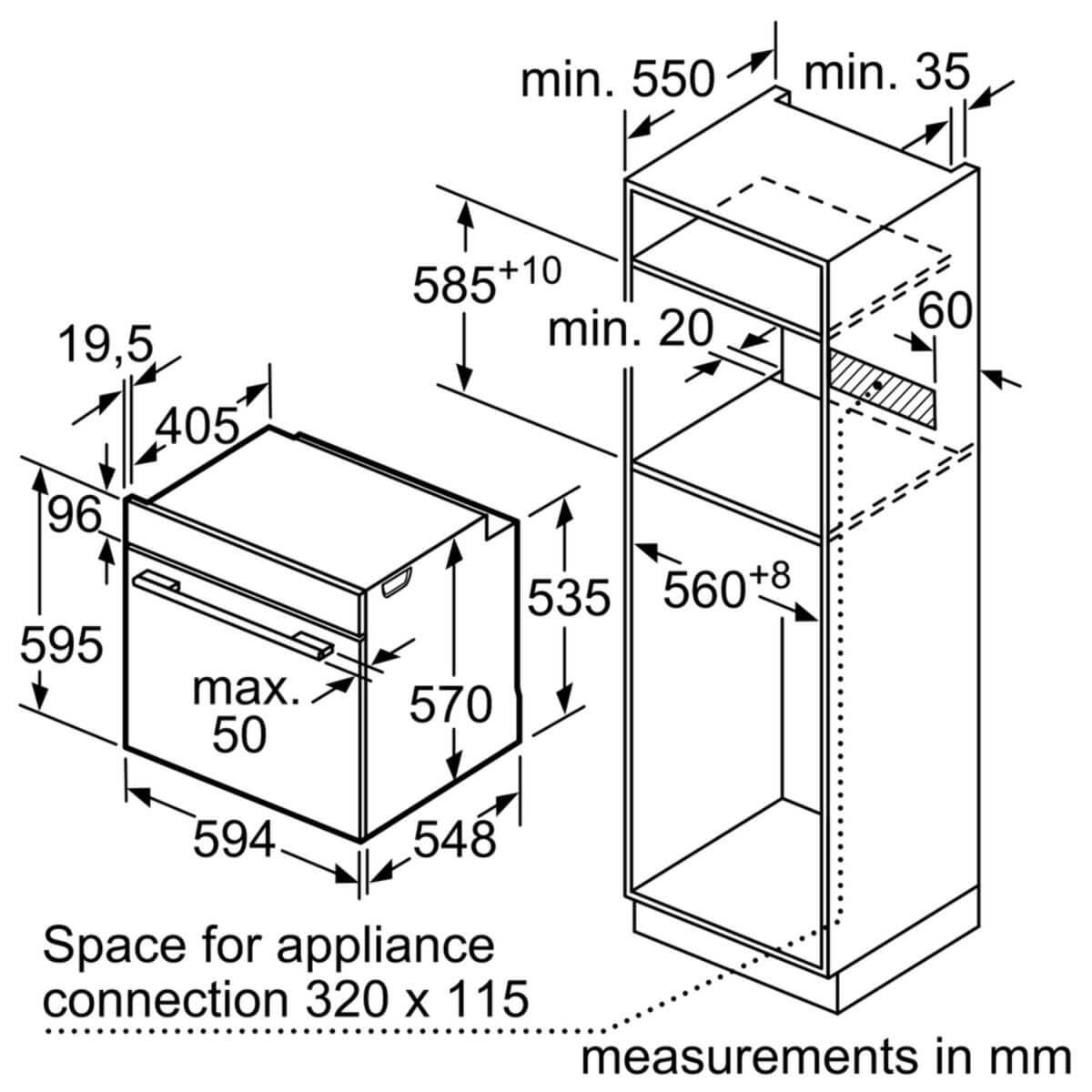Lò nướng âm tủ Bosch 71 lít HMH.HBG5575S0A Serie 6 5