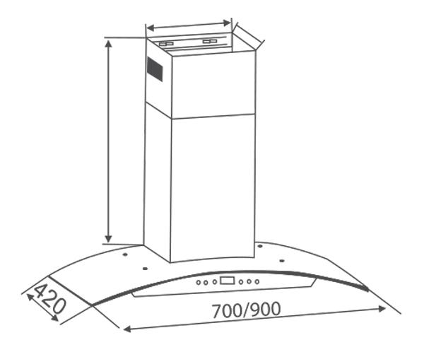 Máy hút mùi kính cong Canzy CZ 0470 5