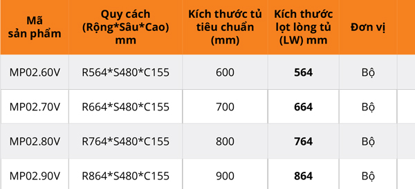 Giá xoong nồi vách hộp cánh kéo Garis MP02.60V/MP02.70V/MP02.80V/MP02.90V 6