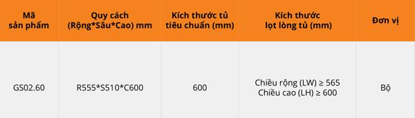 Tủ đồ khô 2 tầng nan dạng hộp inox Garis GS02.60 6