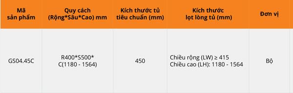 Tủ đồ khô 4 tầng nan vuông inox 304 bề mặt mạ chrome Garis GS04.45C 6