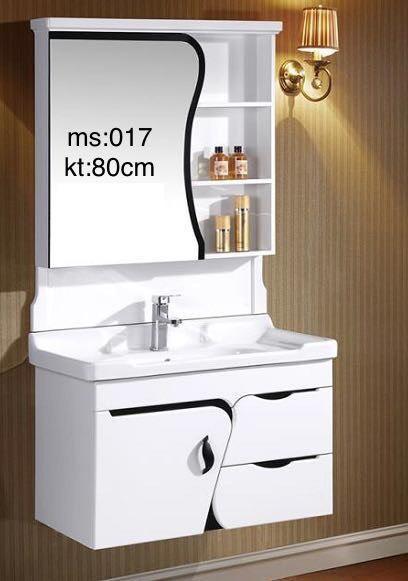 Bộ lavabo tủ gỗ nhựa cao cấp chống ẩm 017 3