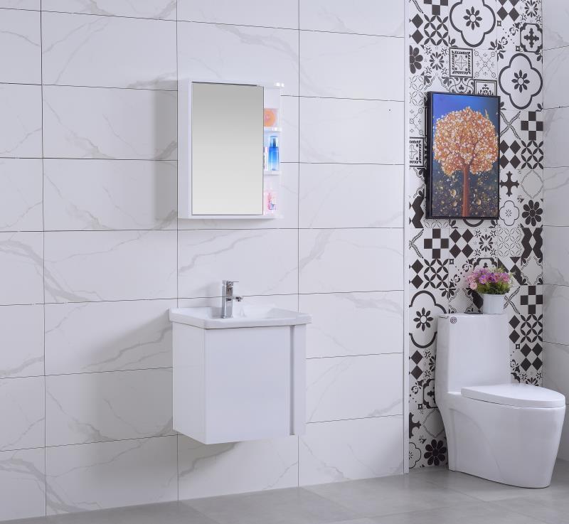Bộ lavabo tủ gỗ nhựa cao cấp chống ẩm TM50 3