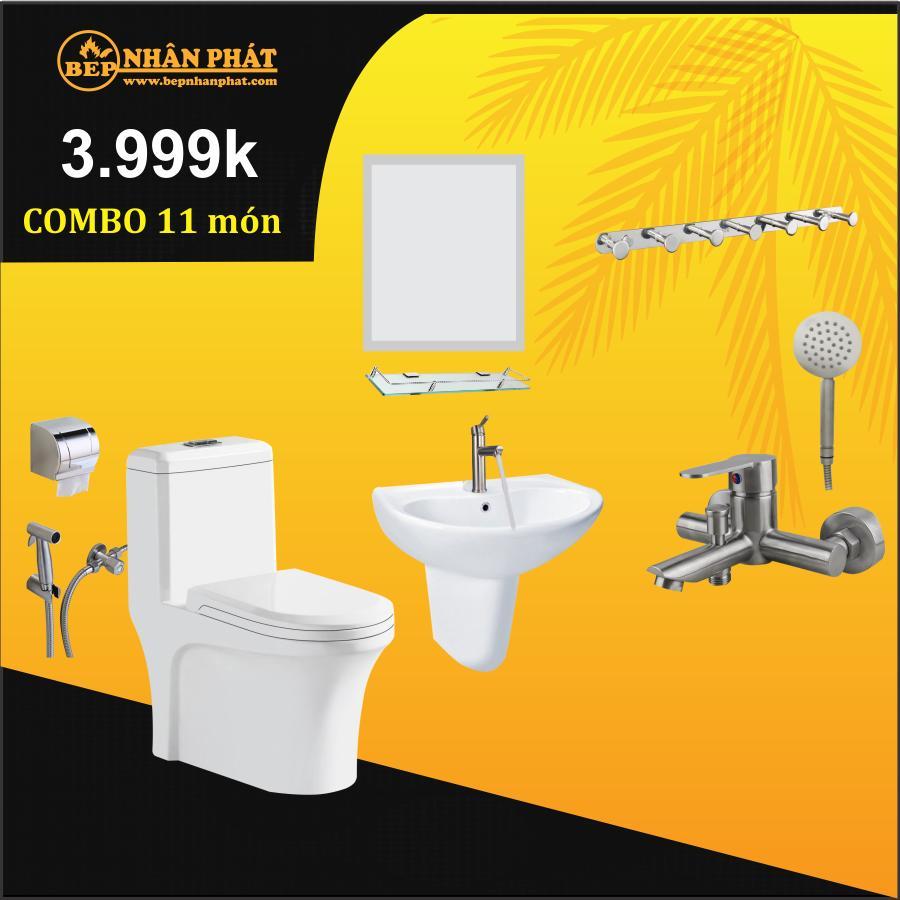Combo thiết bị vệ sinh 11 món 3999k 3