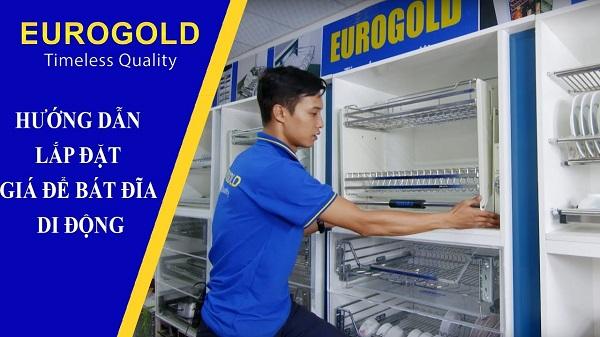 Hướng dẫn lắp đặt giá bát di động cao cấp Eurogold 3
