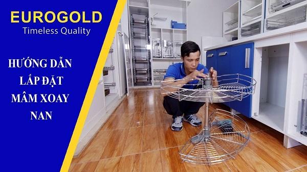 Hướng dẫn lắp đặt mâm xoay ½ Eurogold 4