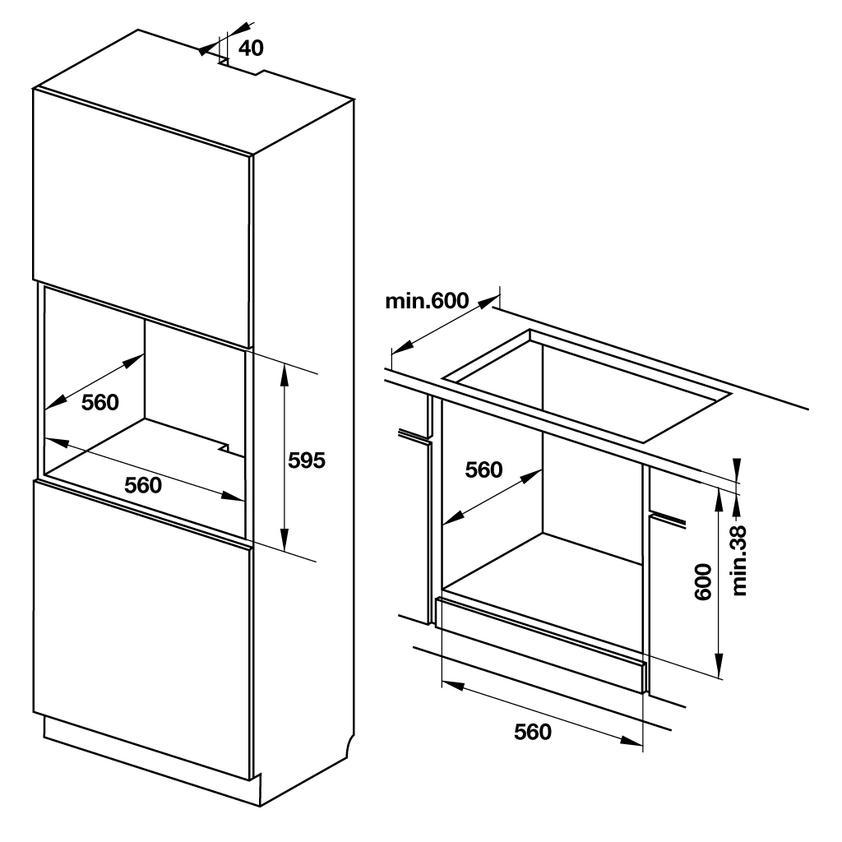 Lò nướng âm tủ Hafele HO-KT60J 535.62.511 4