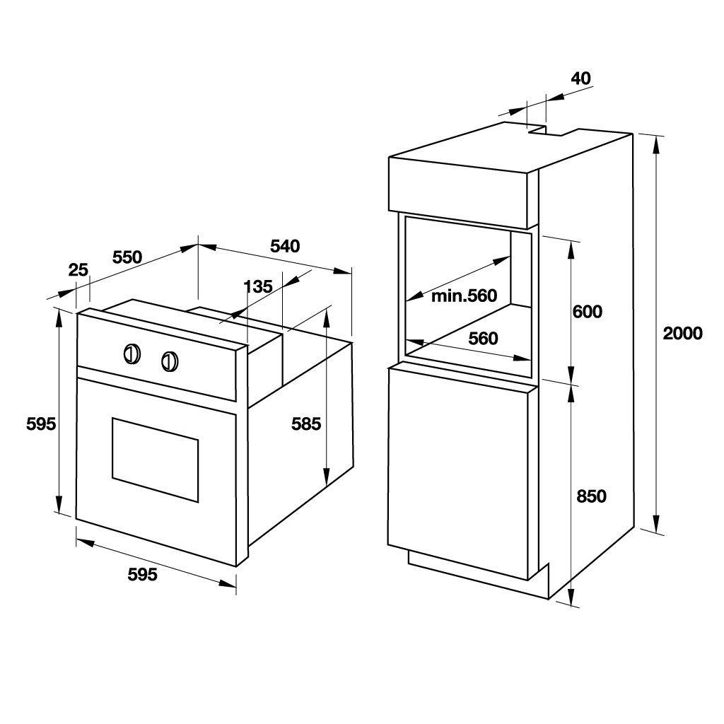 Lò nướng âm tủ Hafele HO-T60C 535.02.721 5
