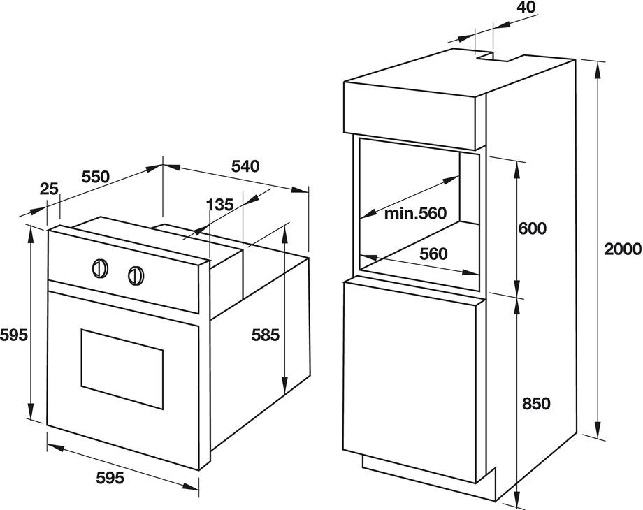 Lò nướng kết hợp hấp âm tủ Hafele HO-T60B 535.02.711 5