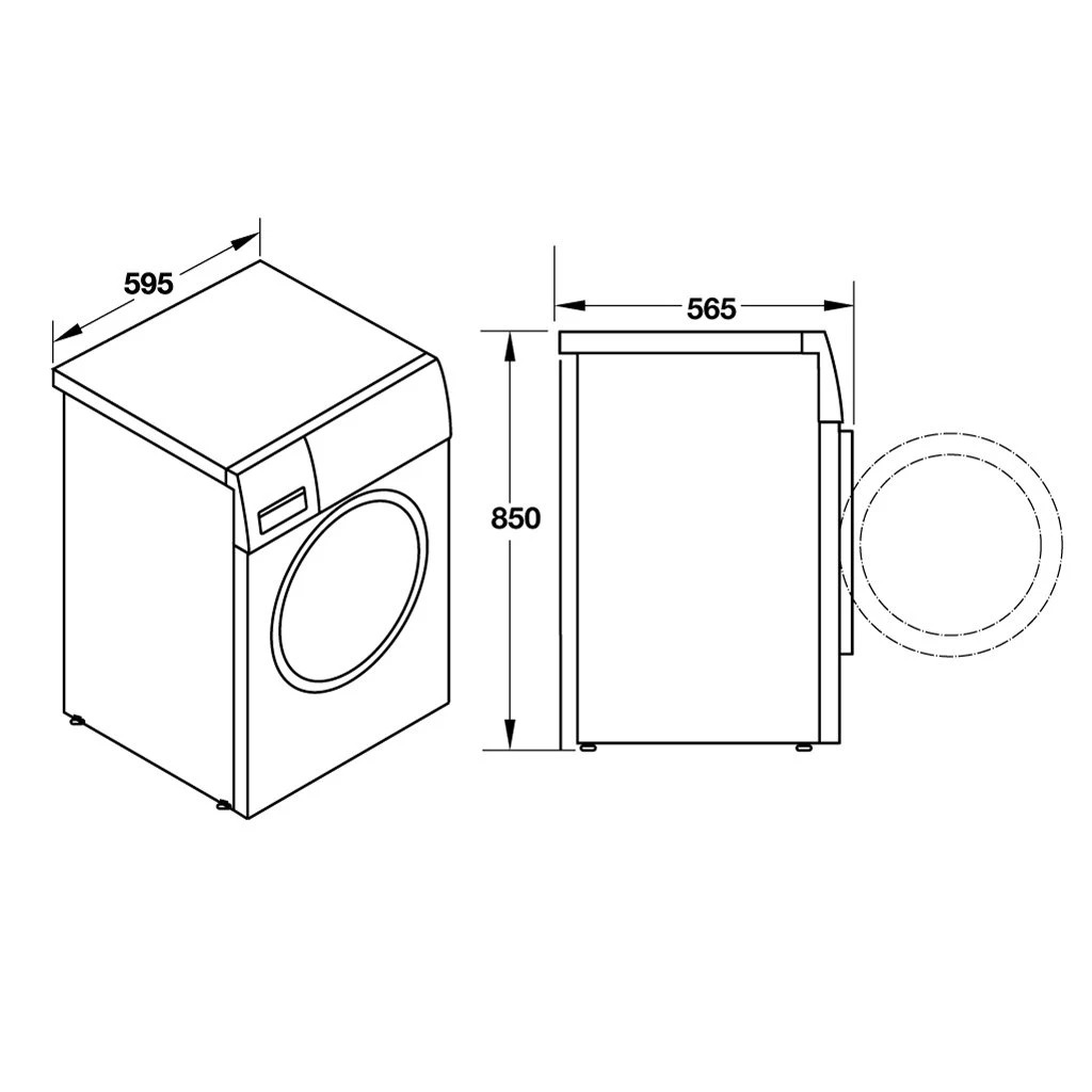 Máy giặt 8kg Hafele HW-F60B 538.91.530 5