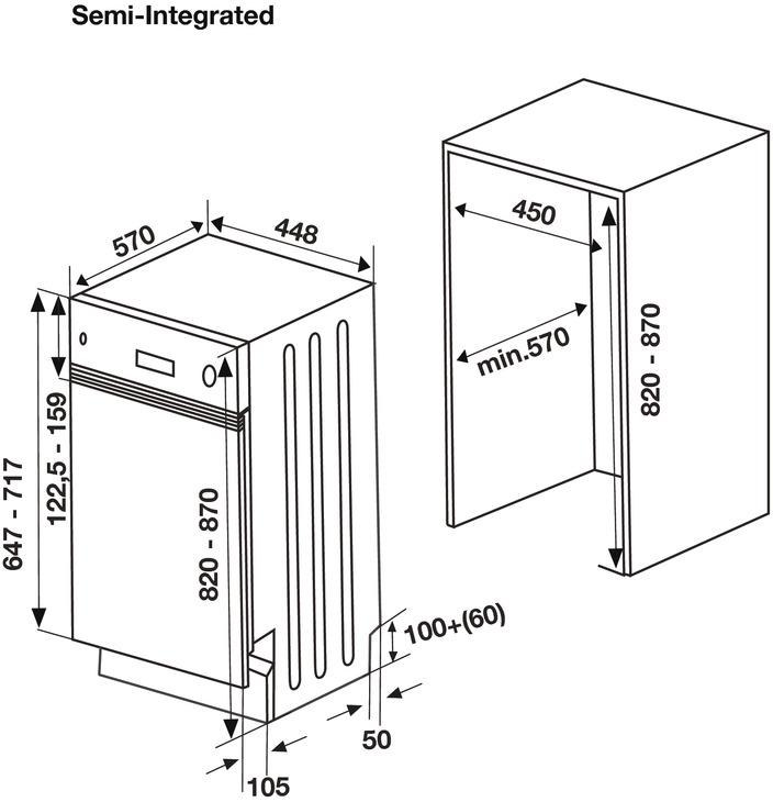 Máy rửa chén âm bán phần Hafele HDW-HI45A 533.23.275 4
