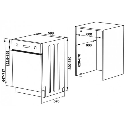 Máy rửa chén âm bán phần Hafele HDW-HI60B 533.23.210 4