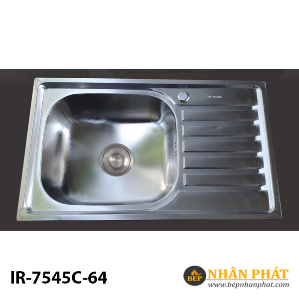 CHẬU RỬA CHÉN INOX DẬP 304 I-ROYAL IR-7545C-64 3