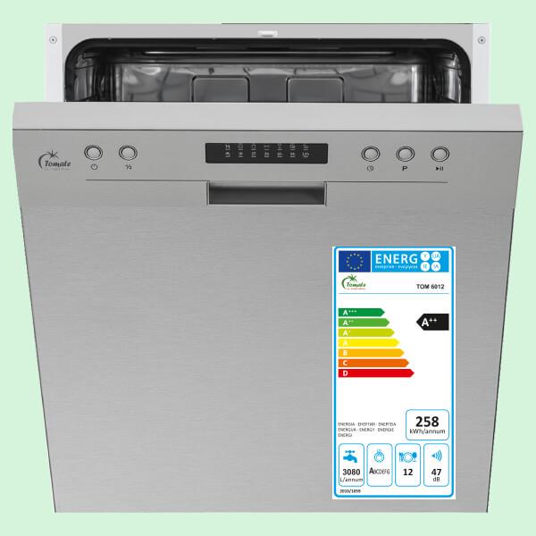 Máy rửa chén âm tủ bán phần TOMATE TOM-6012 - Made in spain