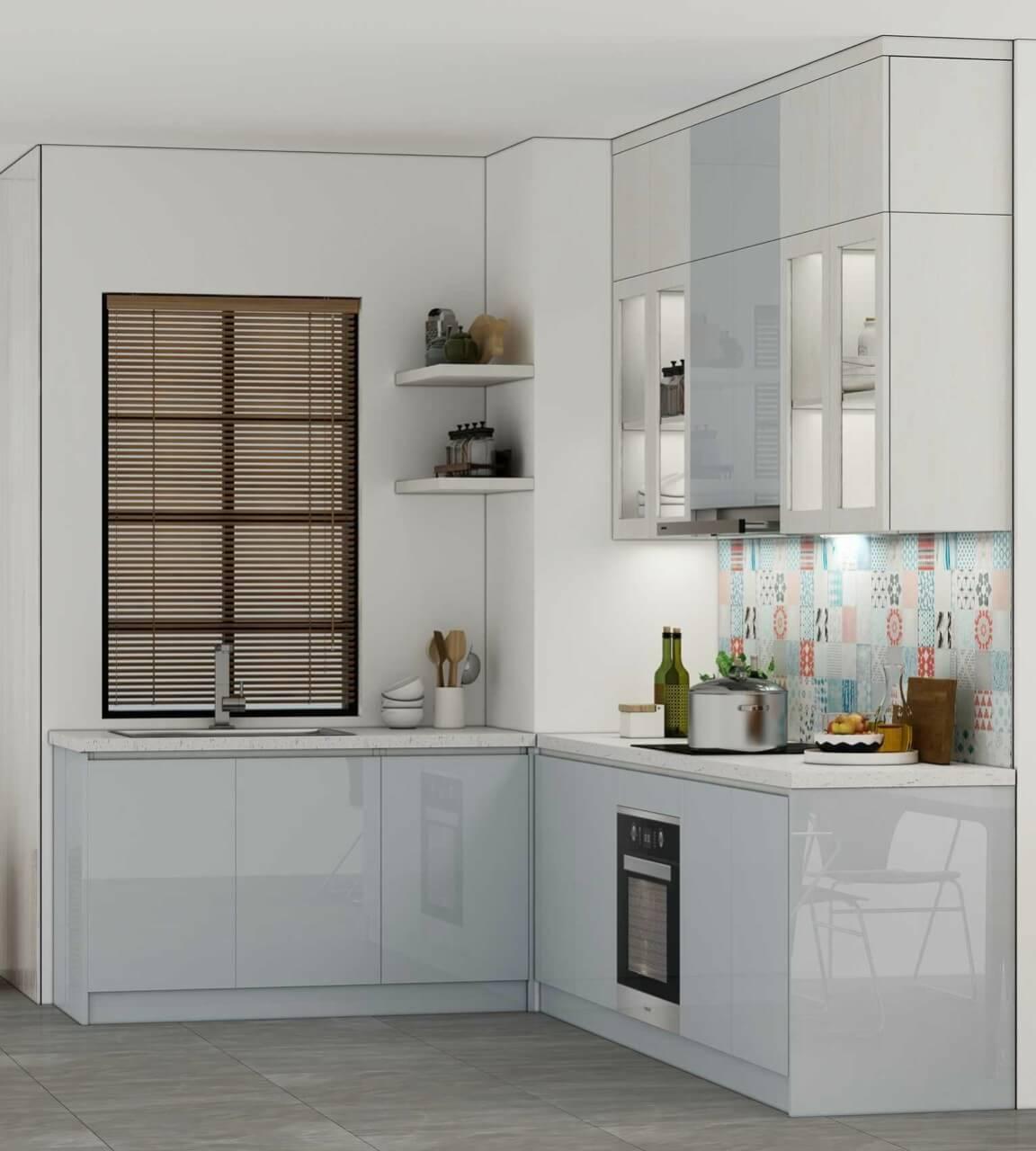 Mẫu tủ bếp ACRYLIC 3