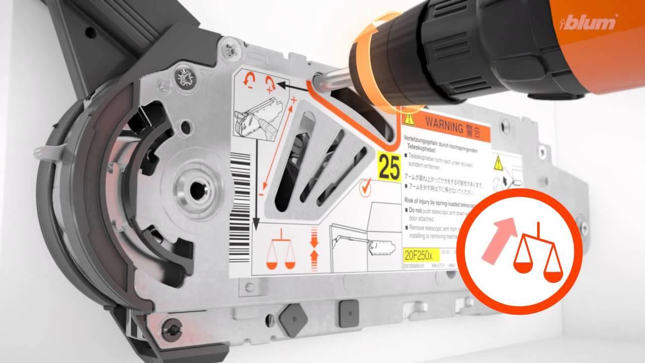 Hướng dẫn lắp đặt tay nâng Blum Aventos HF 3
