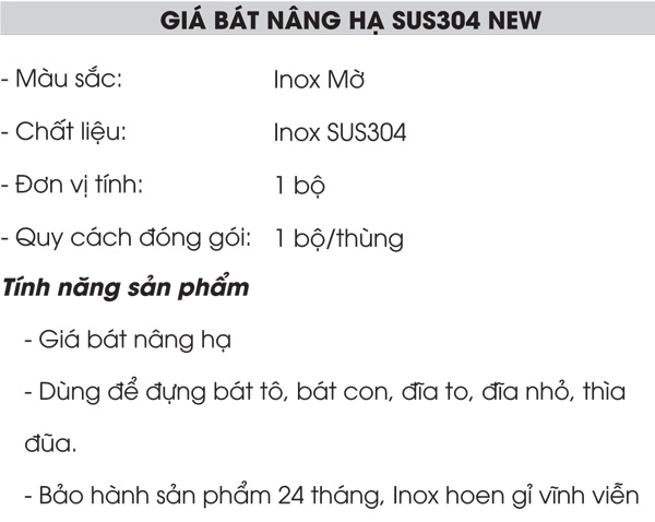 Giá nâng hạ inox 304 Grob GV304-170NEW 4
