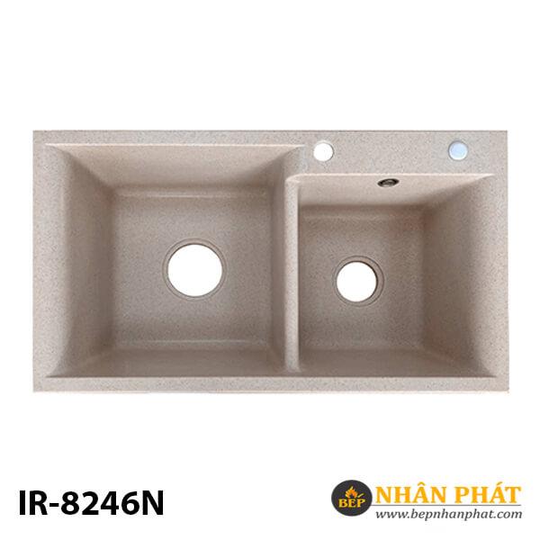 Chậu rửa chén đá nhân tạo 2 hộc nhập khẩu IR-8246N 6
