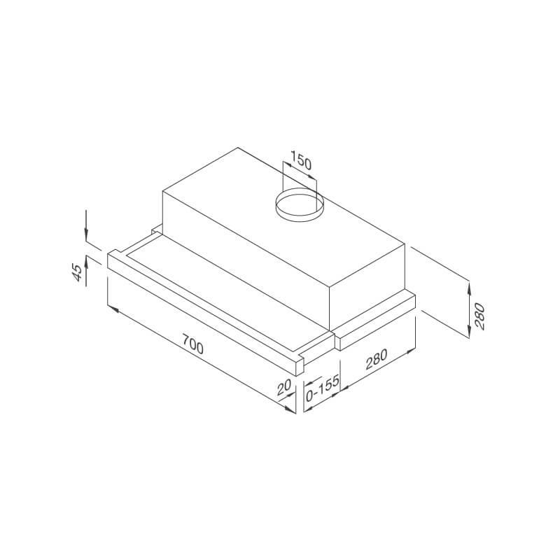Máy hút mùi âm tủ Malloca H204.7 5