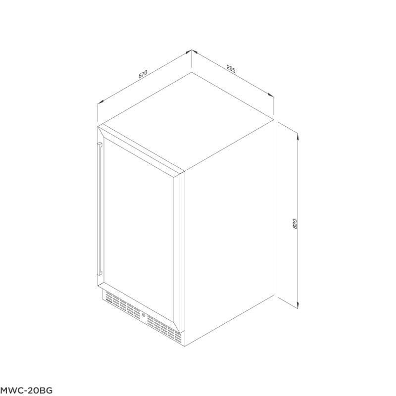 Tủ Bảo Quản Rượu Vang Âm Tủ/Độc Lập Malloca MWC-20BG 5