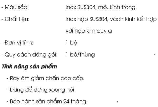 Kệ xoong nồi inox hộp vách kính Grob PHF-60/PHF-70/PHF-80/PHF-90 4