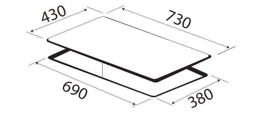 Bếp 2 từ KAFF KF-IH201II 5