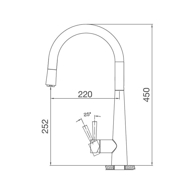 Vòi Rửa Chén NL Dây Rút Inox 304 Malloca K095-S 7