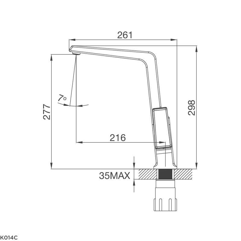 Vòi Rửa Chén NL Đồng Thau Mạ Chrome Malloca K014C 5
