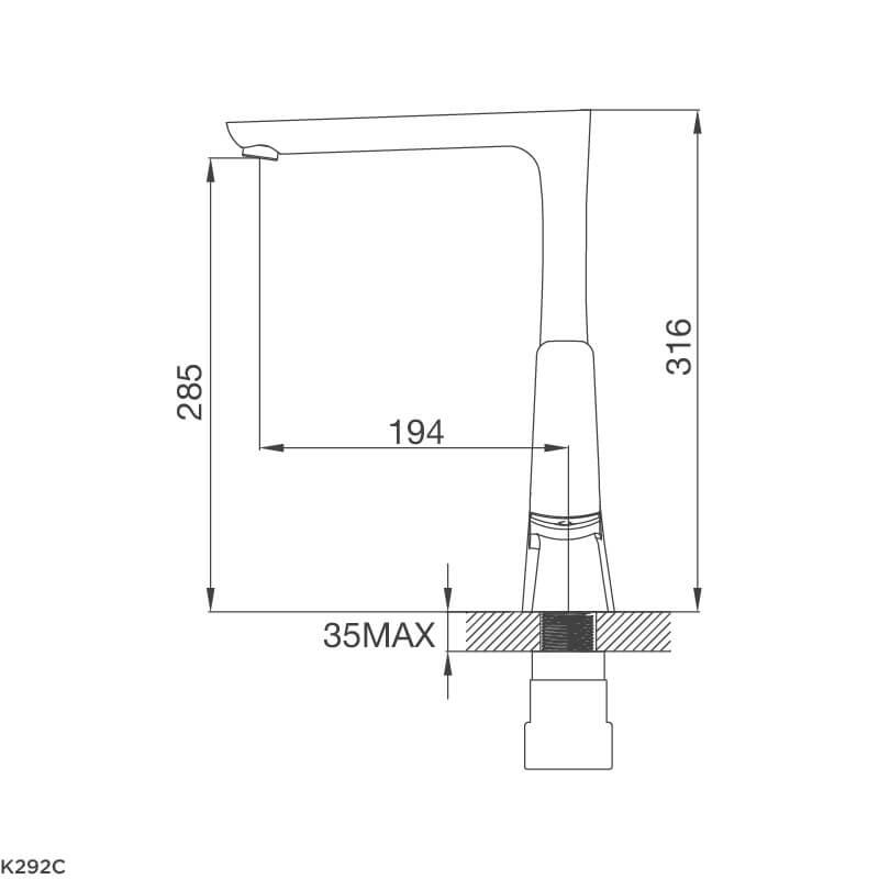 Vòi Rửa Chén NL Đồng Thau Mạ Chrome Malloca K292C 5