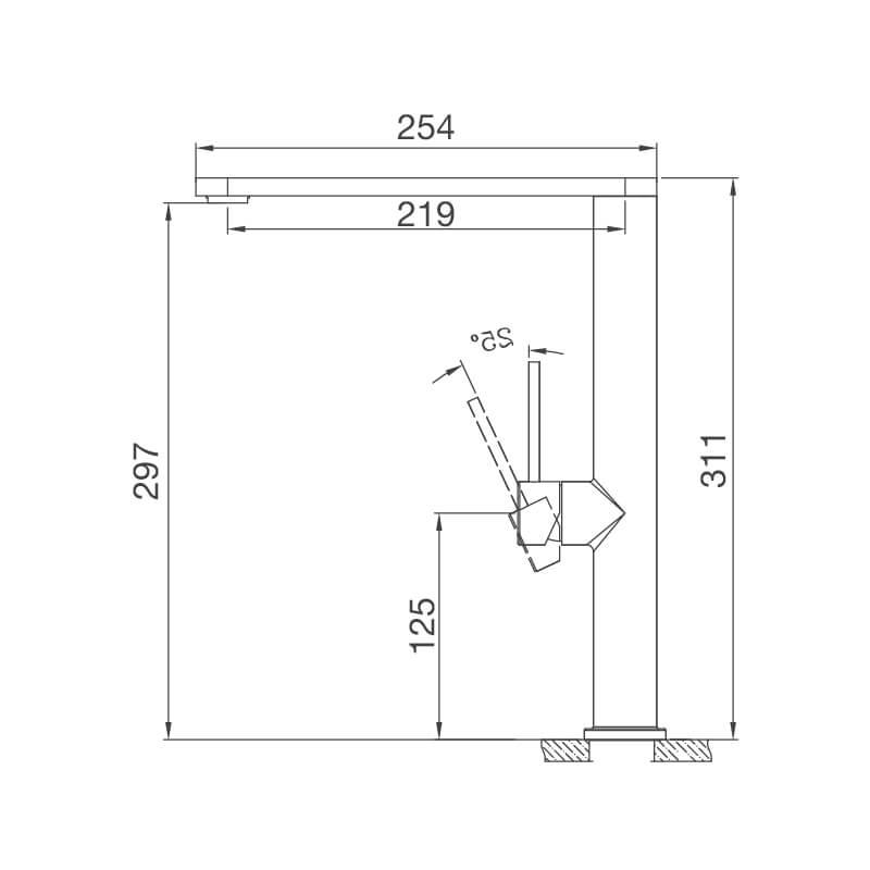 Vòi Rửa Chén NL Inox 304 Malloca K061-S 8