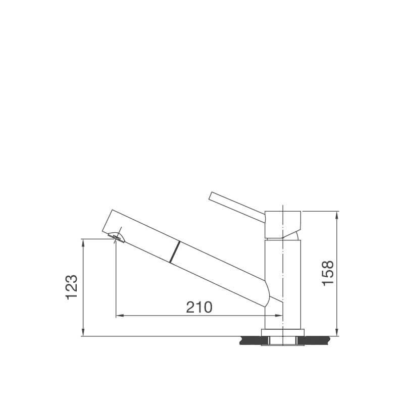Vòi Rửa Chén NL Dây Rút Inox 304 Malloca K110-S 7