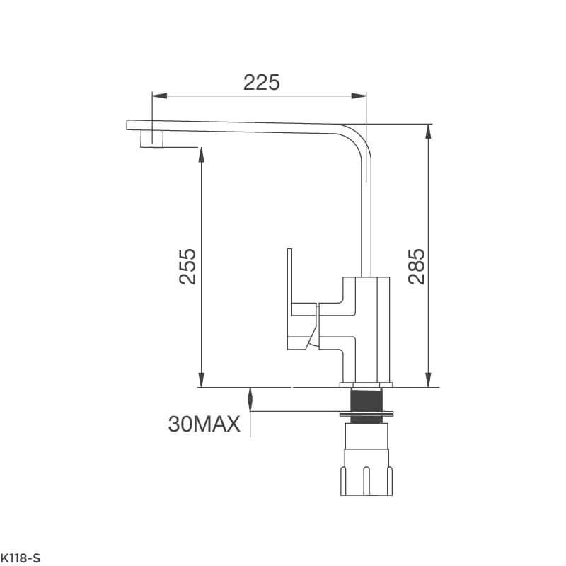 Vòi Rửa Chén NL Inox 304 Malloca K118-S 6